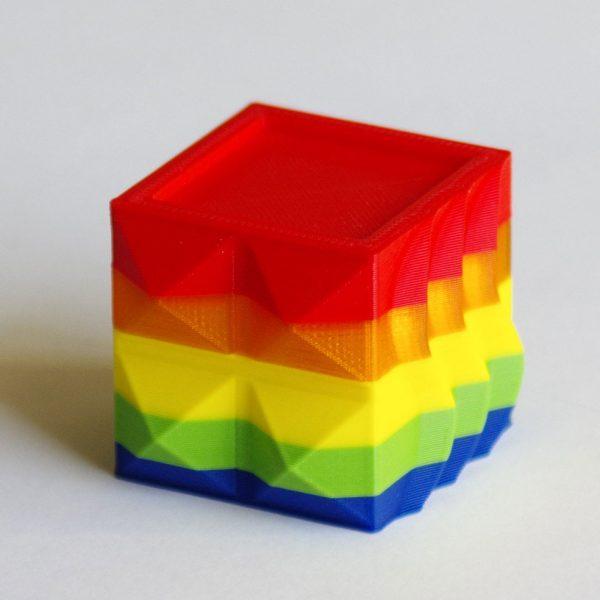 Impression 3D - Cube PLA multicolore