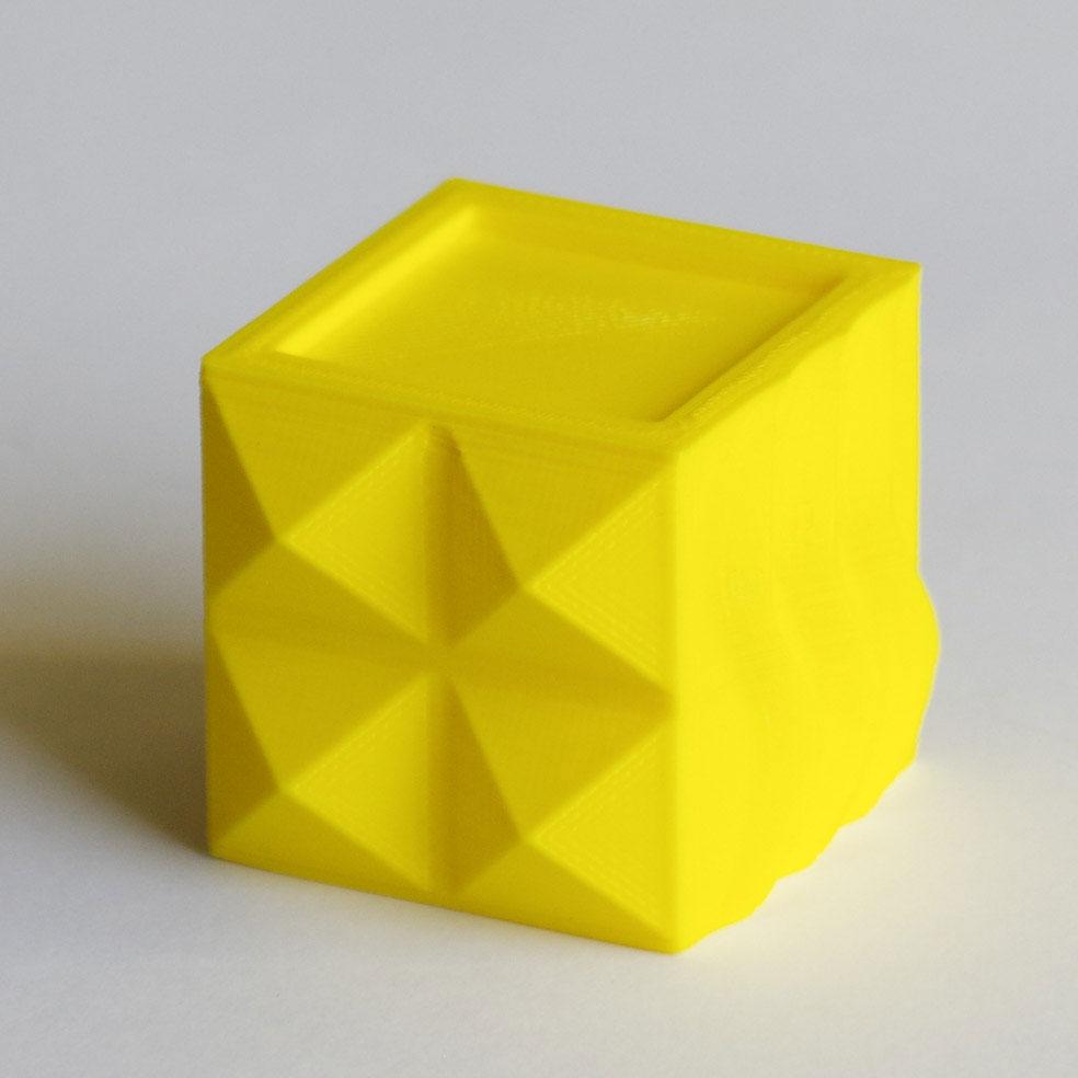 Conception et impression 3D - Cube PLA jaune