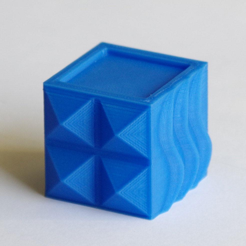 Impression 3D - Cube PLA bleu ciel