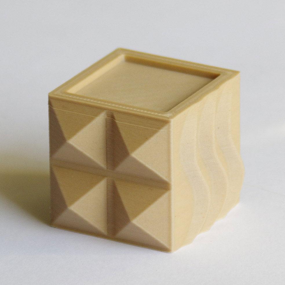 Impression 3D - Cube PLA bois