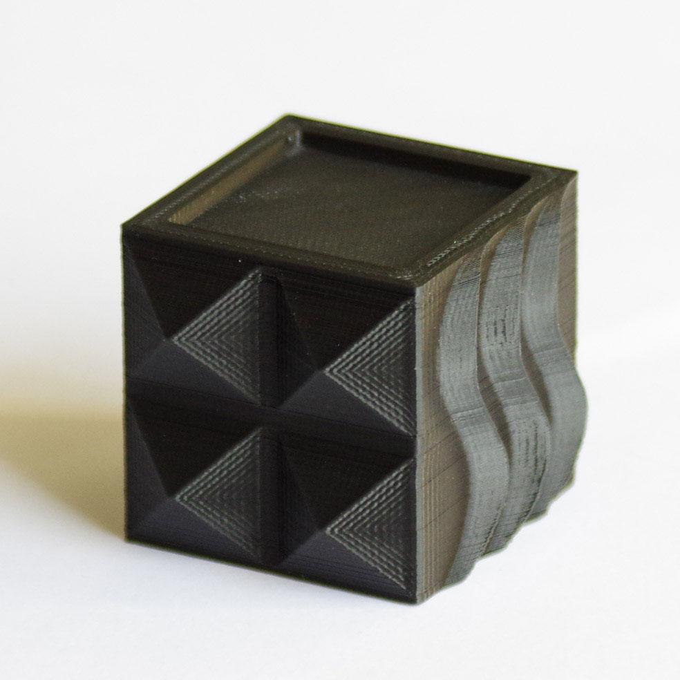 Impression 3D - Cube PLA noir
