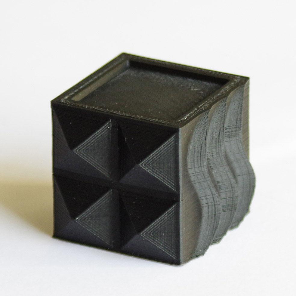Impression 3D - Cube ABS noir