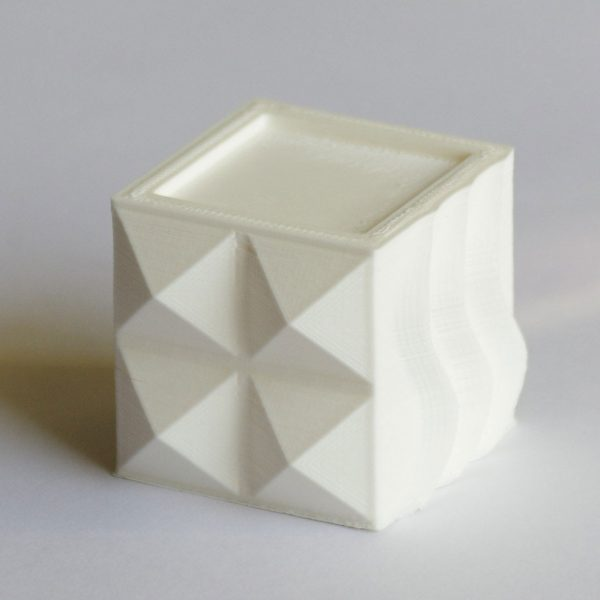 Impression 3D - Cube ABS blanc