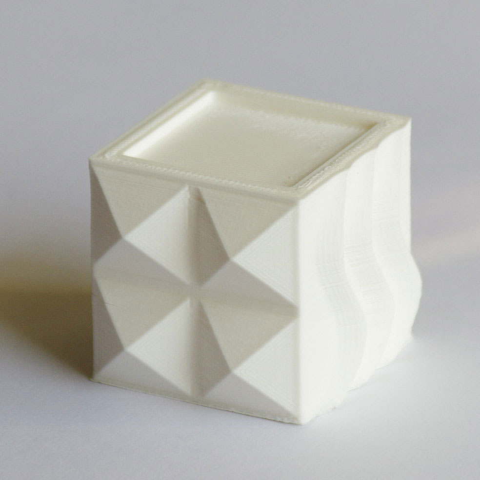 Impression 3D - Cube ABS blanc
