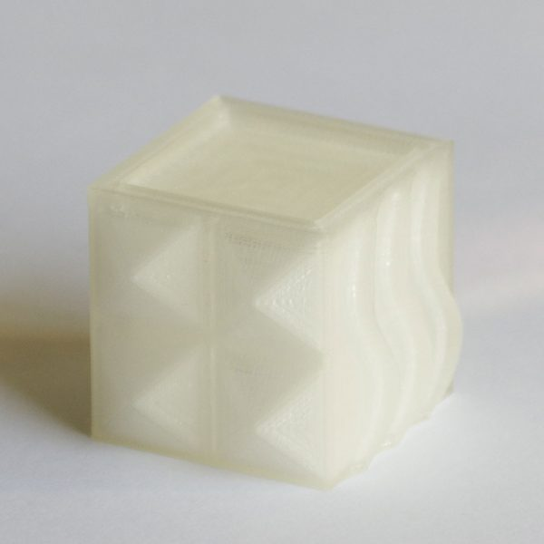Impression 3D - Cube PLA naturel