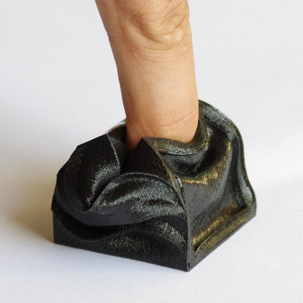 Impression 3D - Cube flex noir