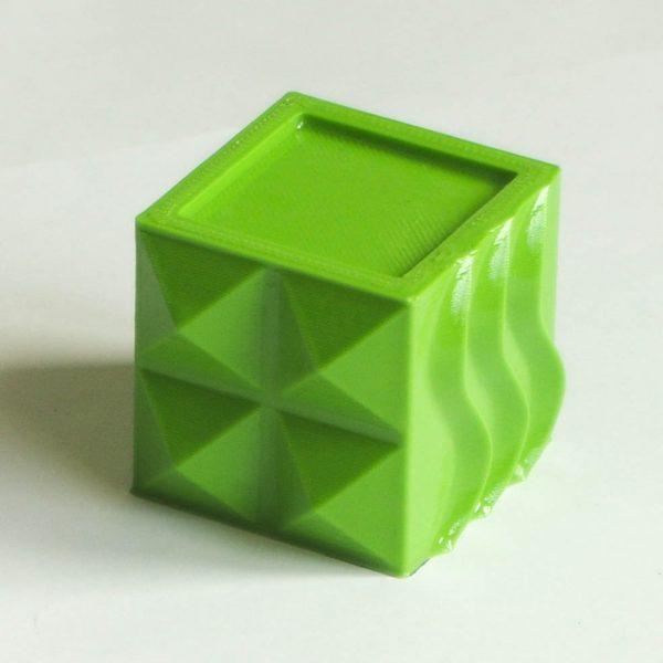 Impression 3D - Cube PLA vert 320µm lissé