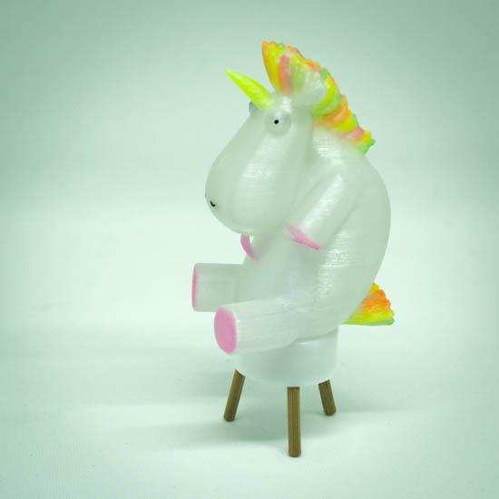 Impression 3D - photophore licorne