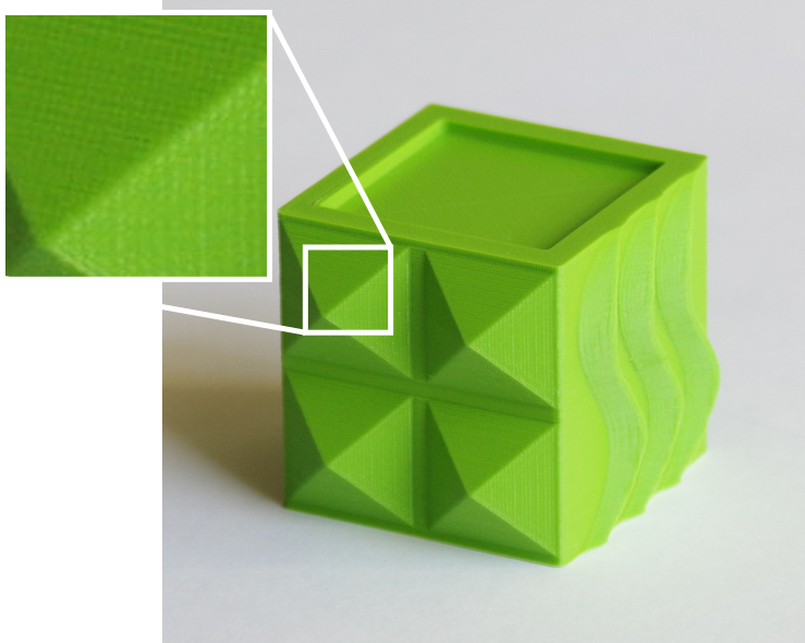impression 3D - cube vert 50micron