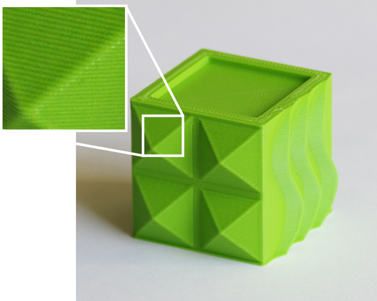 impression 3D - cube vert 320micron